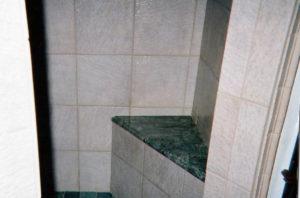 bathroom tile seat